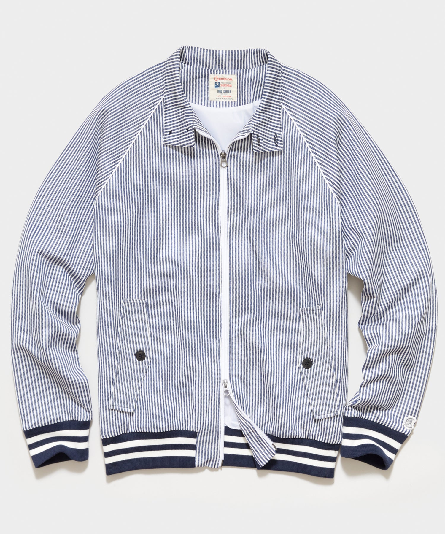 Seersucker Harrington Jacket in Navy