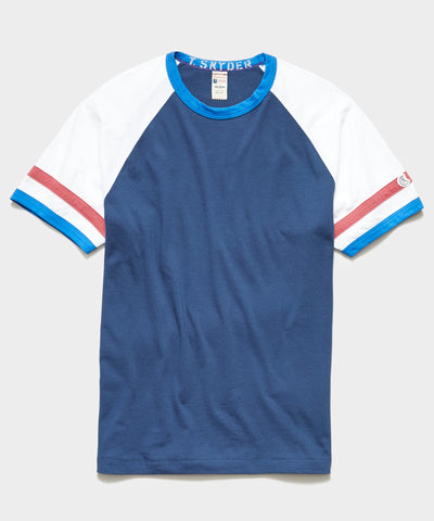 Champion Color Block Ringer Tee in Navy Batik