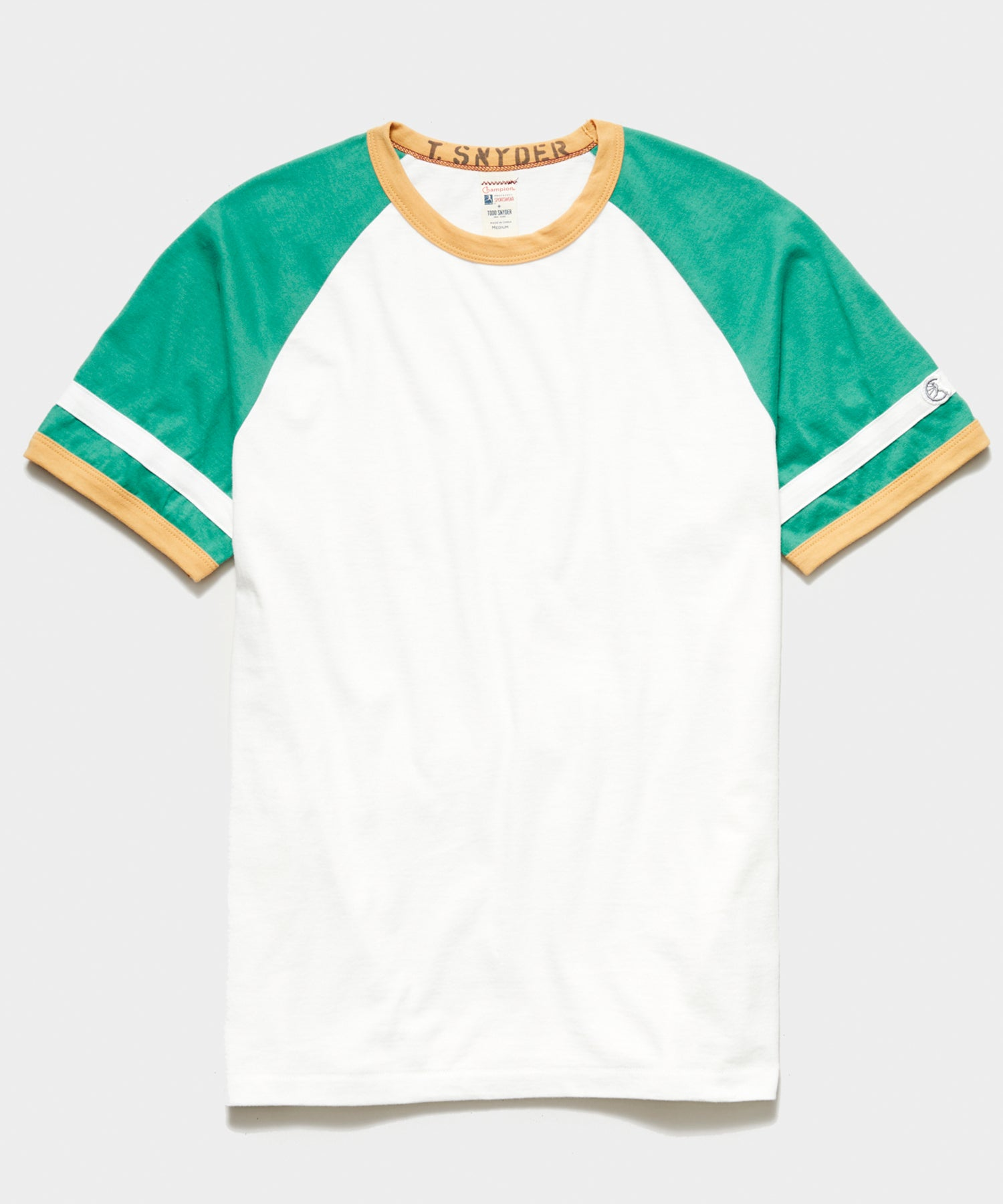 Champion Color Block Ringer Tee in Antique White