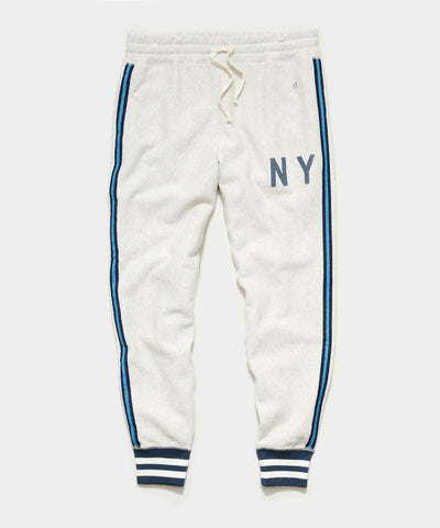 Champion NY Slim Sweatpant in Eggshell MIx