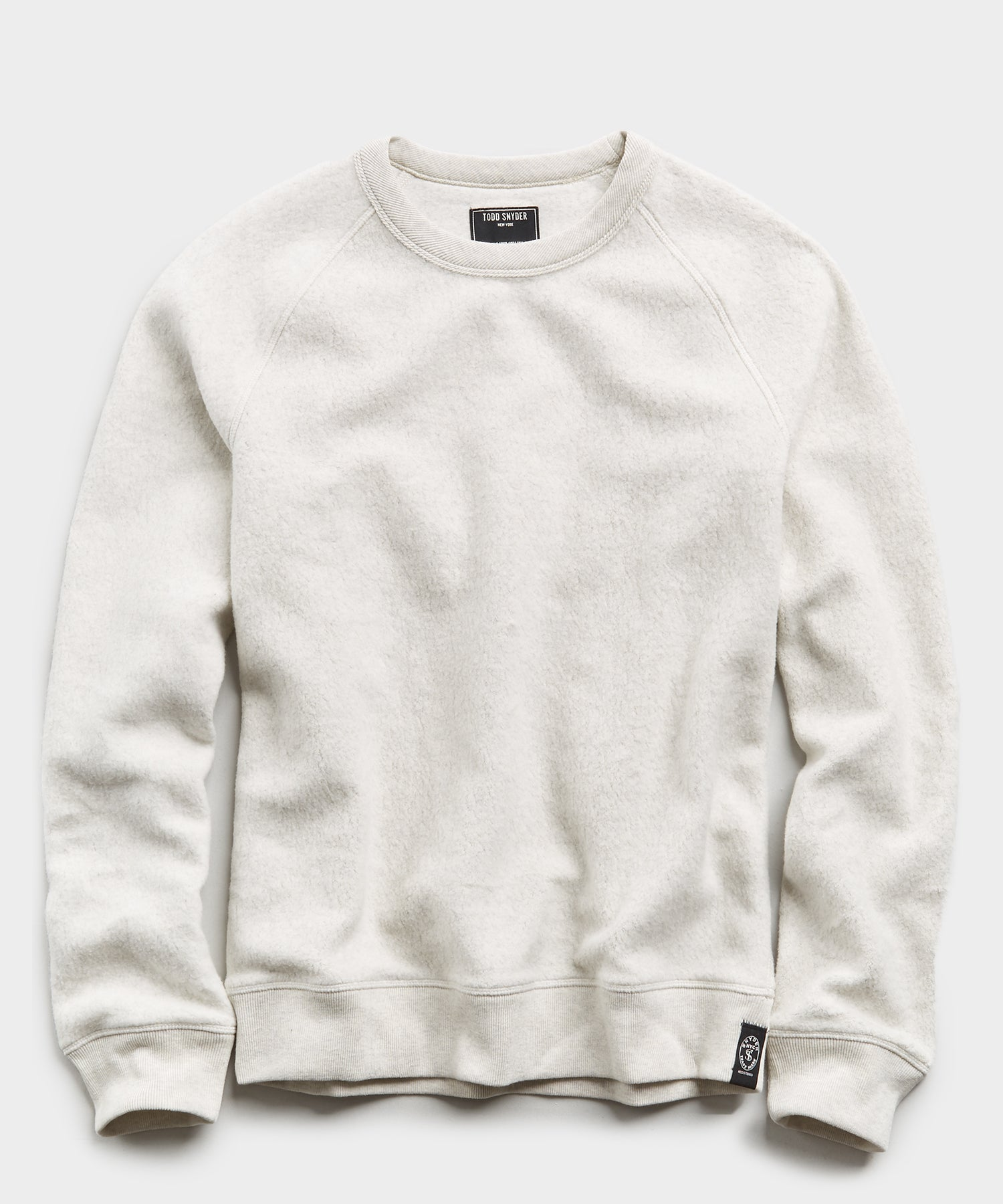 Reverse Fleece Crew in Oatmeal