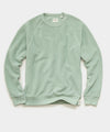 Reverse Fleece Crewneck Sweatshirt in Light Sage