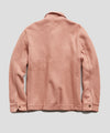 Italian Boucle Knit Shirt Jacket in Mauve