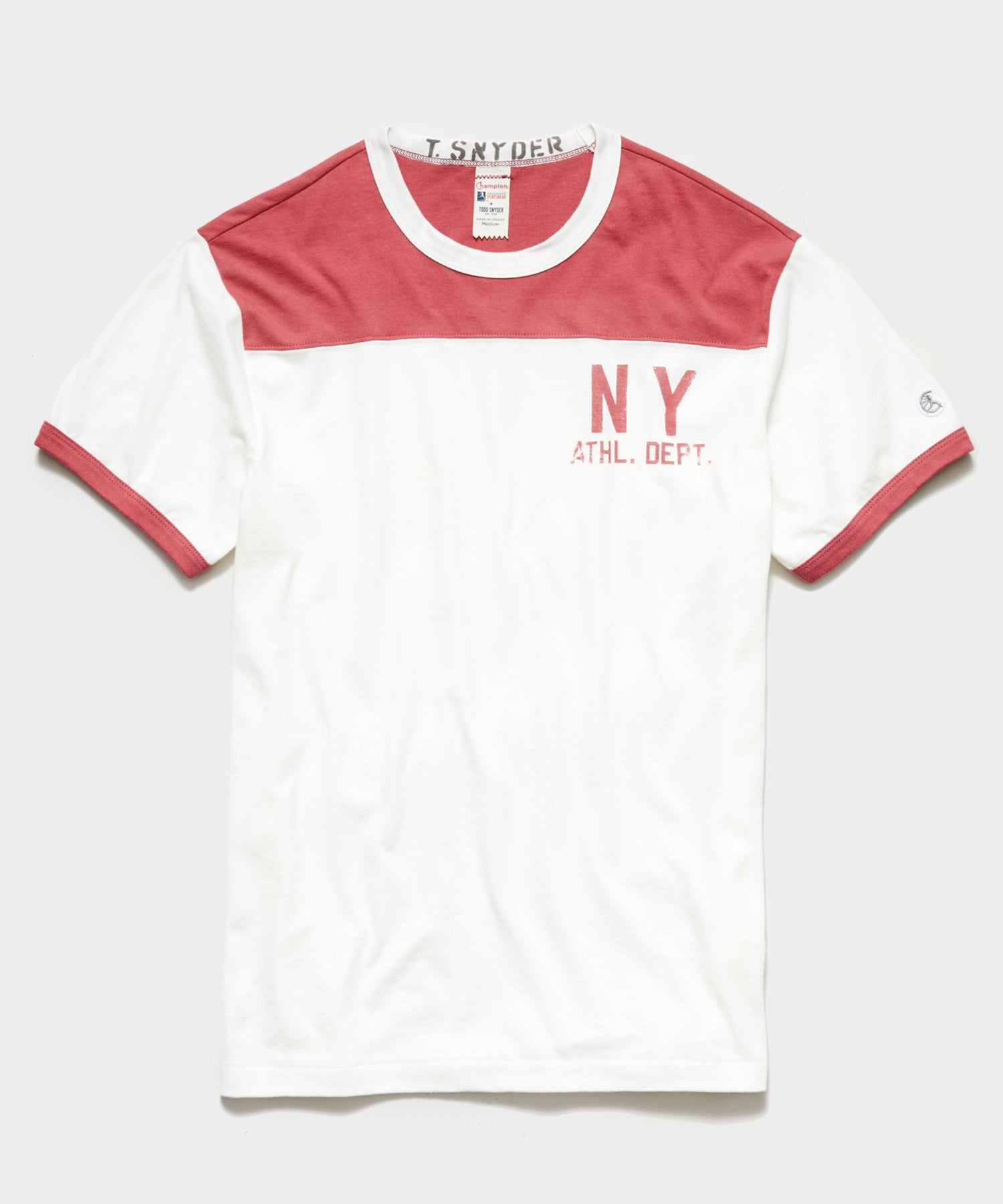 Champion NY Athletic Dept. Tee in Antique White