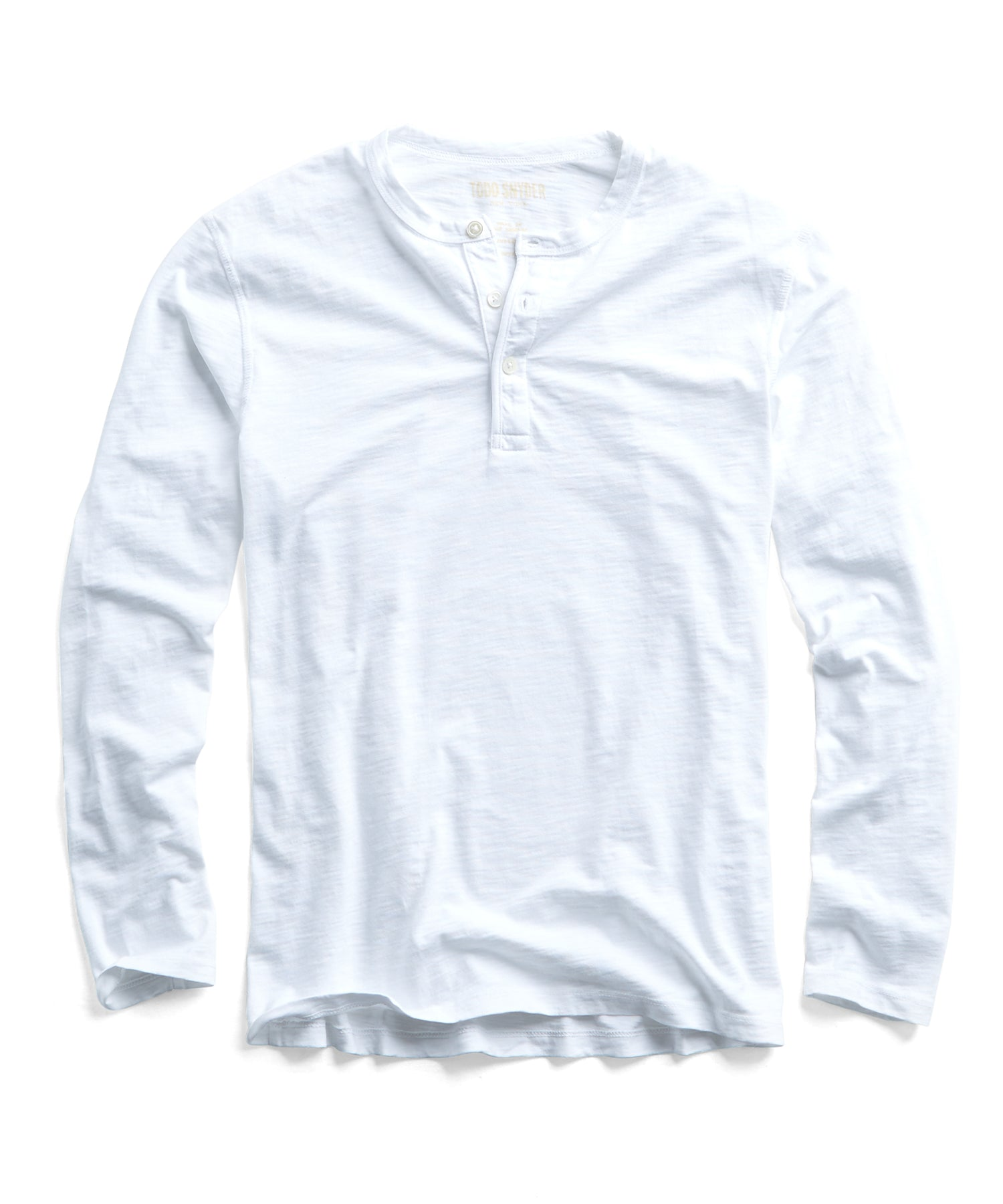 Made in L.A. Slub Jersey LS Henley in White