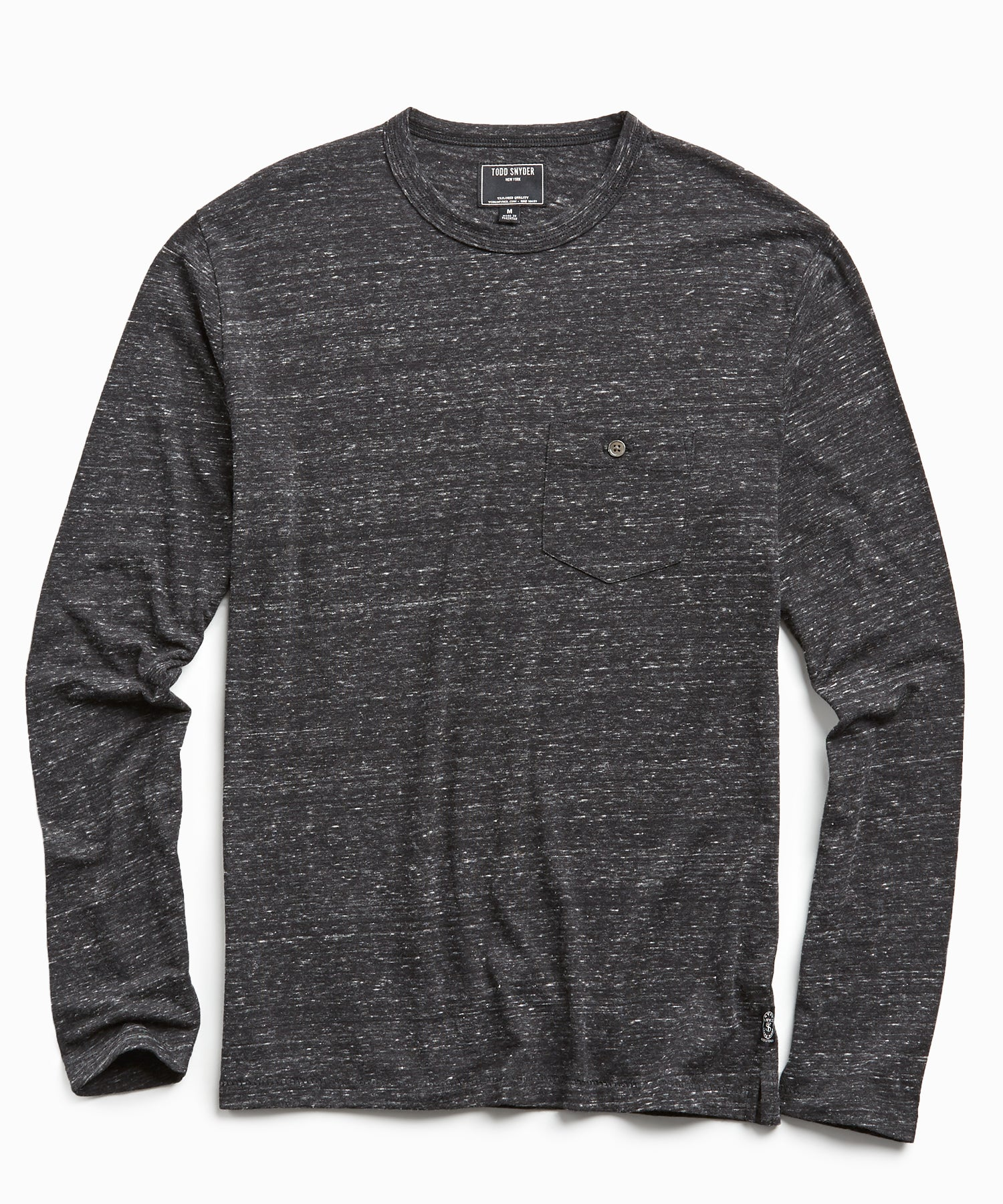 Long Sleeve Heather Tee in Black