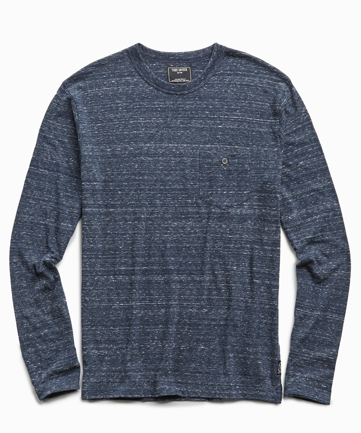 Long Sleeve Heather Tee in Original Navy
