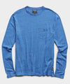 Long Sleeve Heather Tee in Yacht Club Blue