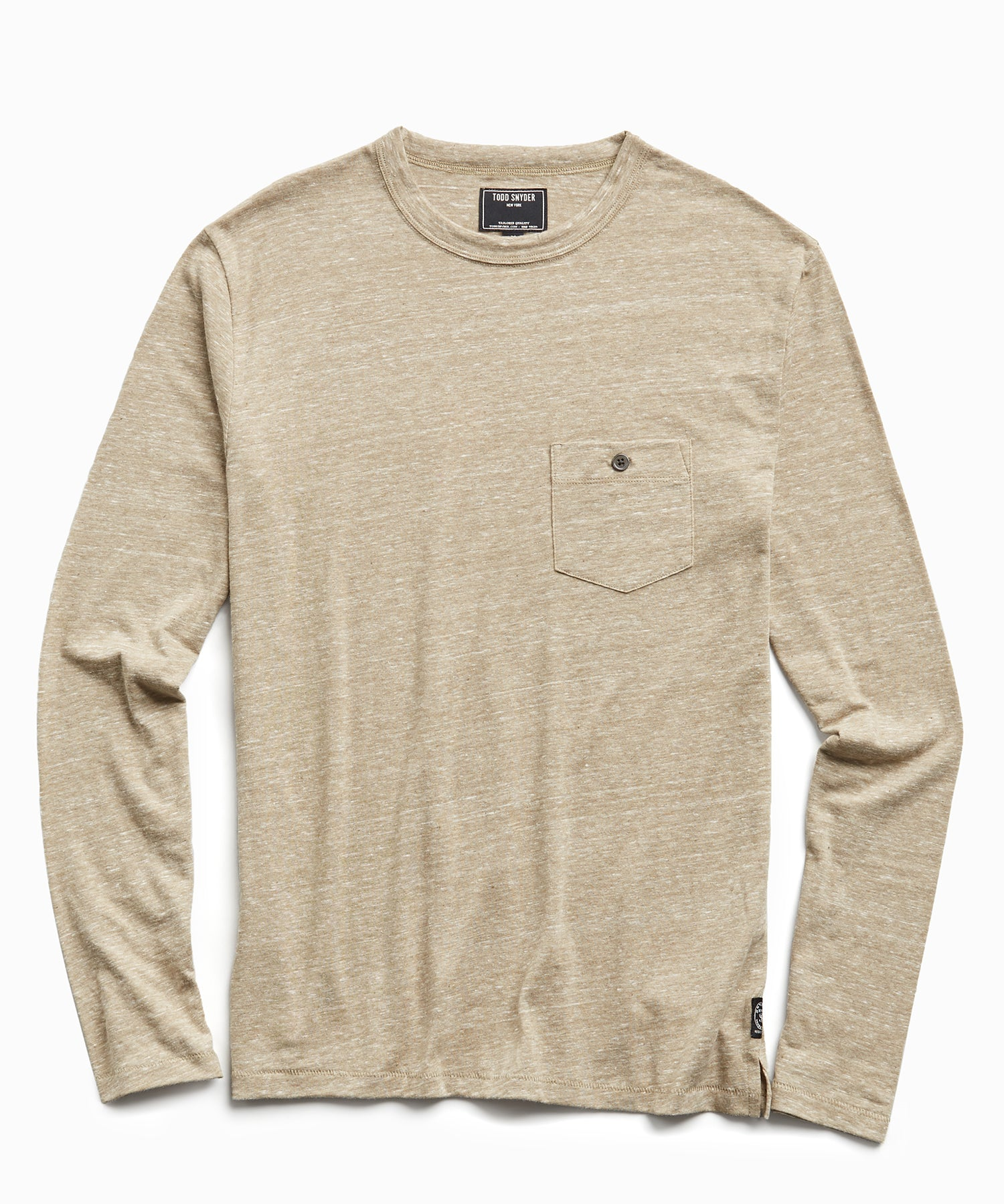 Long Sleeve Heather Tee in Dark Driftwood