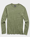 Long Sleeve Heather Tee in Tuscan Olive