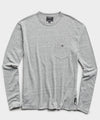 Long Sleeve Heather Tee in Pebble Grey