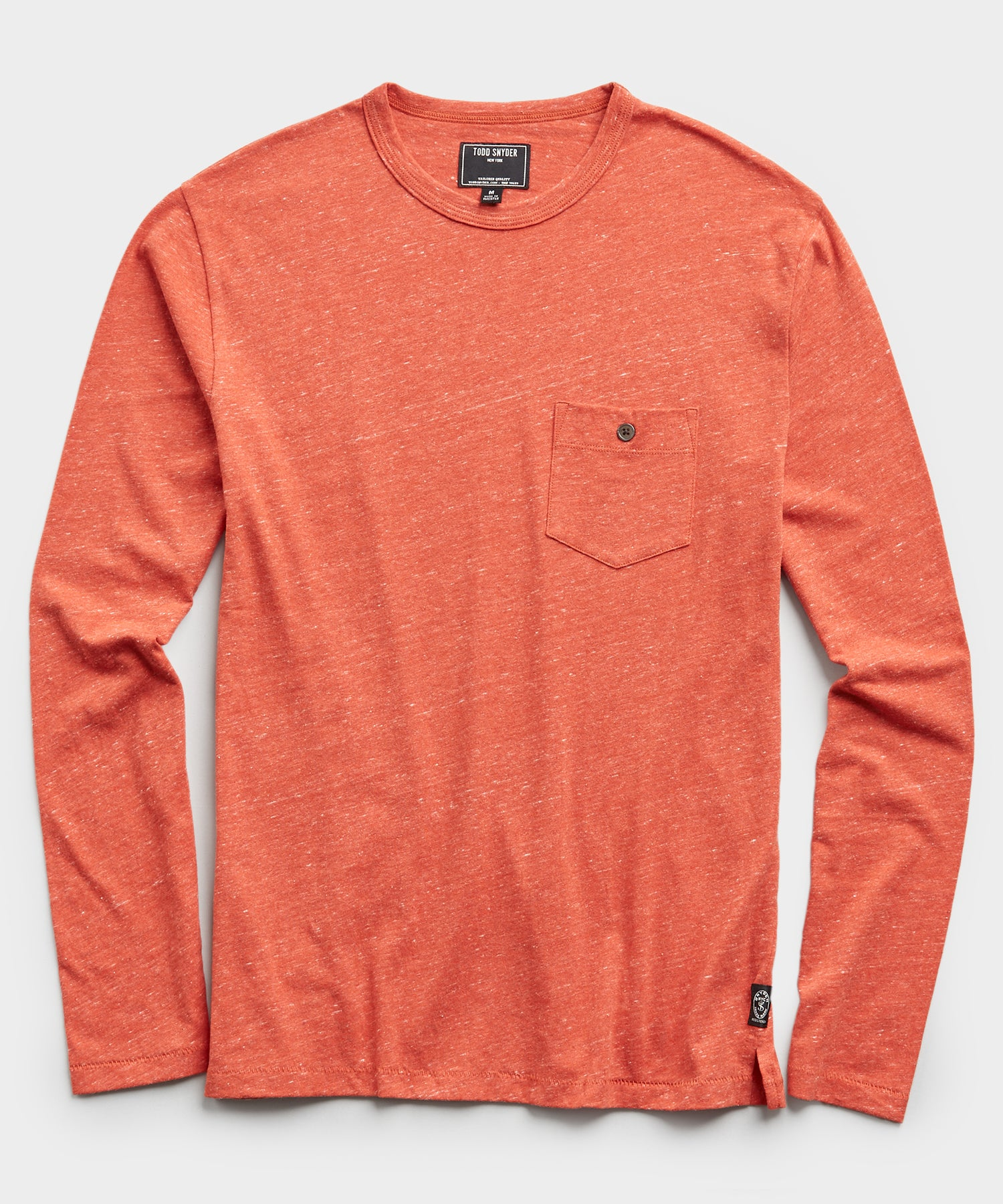 Long Sleeve Heather Tee in Cayenne