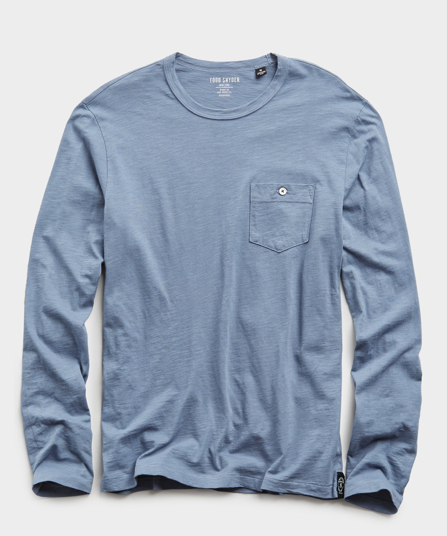 Made in L.A. Slub Jersey Long Sleeve T-Shirt in Air Force Blue
