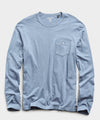 Made In L.A. Slub Jersey Long Sleeve Tee in Blue Mist