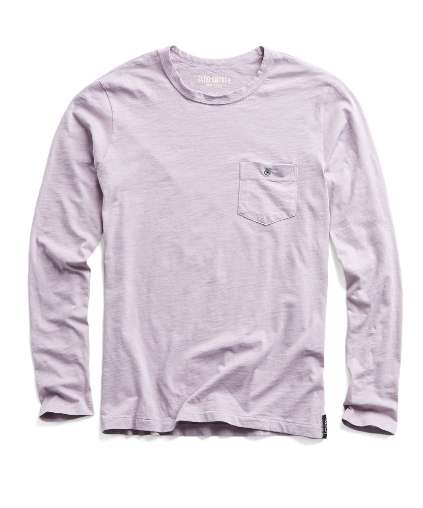b388034c72c Made in L.A. Slub Jersey Long Sleeve T-Shirt in Lavender