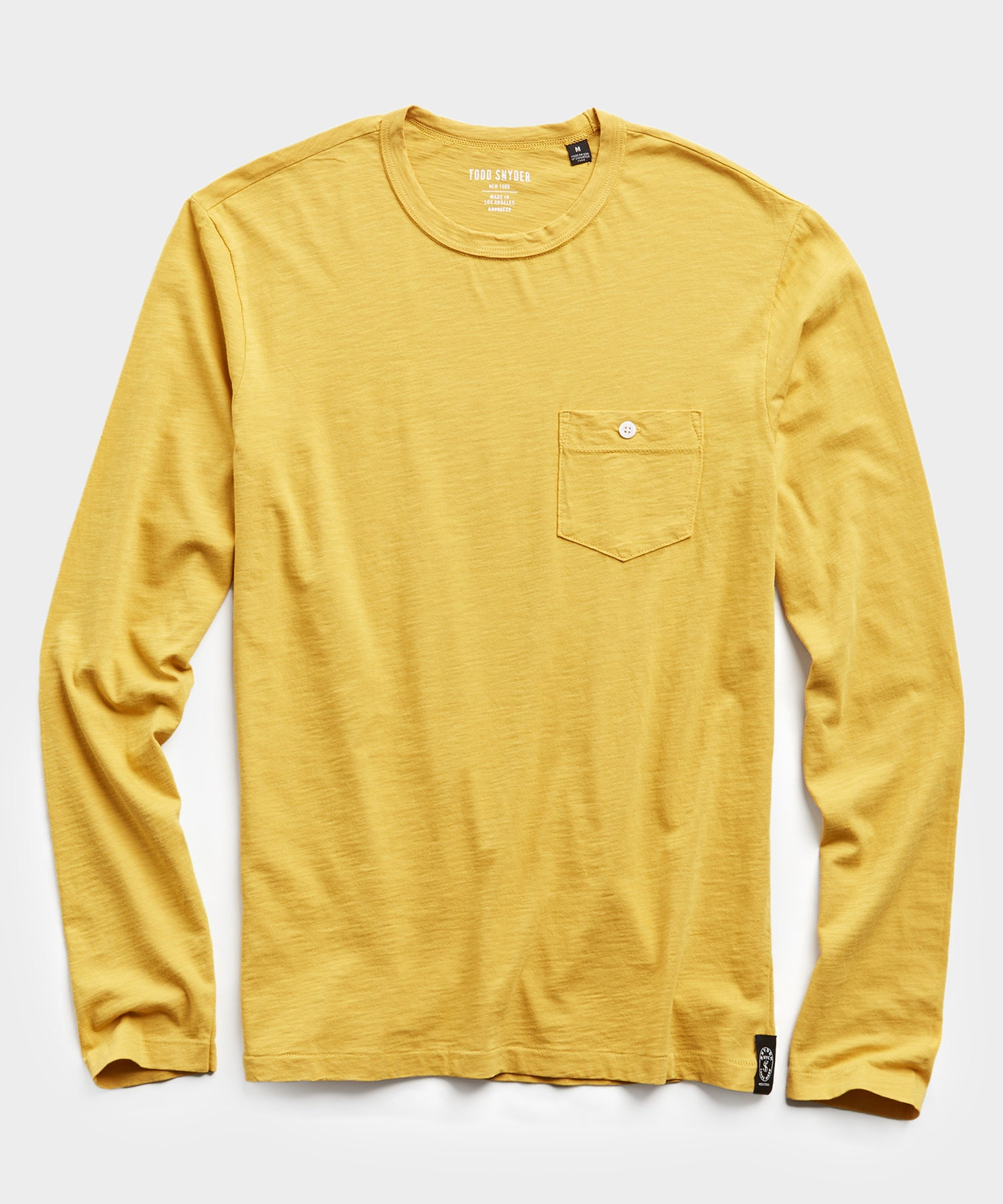 Made in L.A. Slub Jersey Long Sleeve T-Shirt in Maize
