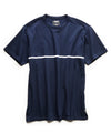 Single Stripe Jersey Tee in Navy