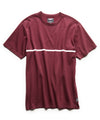 Single Stripe Jersey Tee in Burgundy