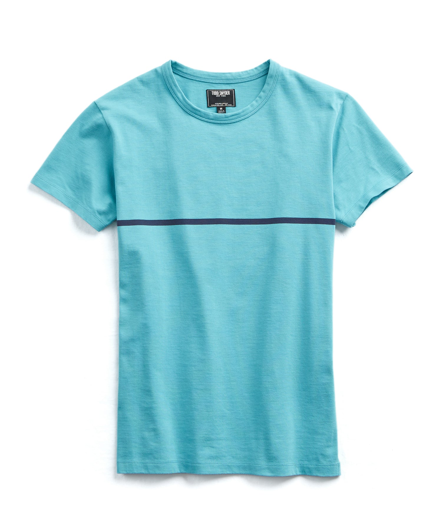 Aqua and Navy Stripe Tee