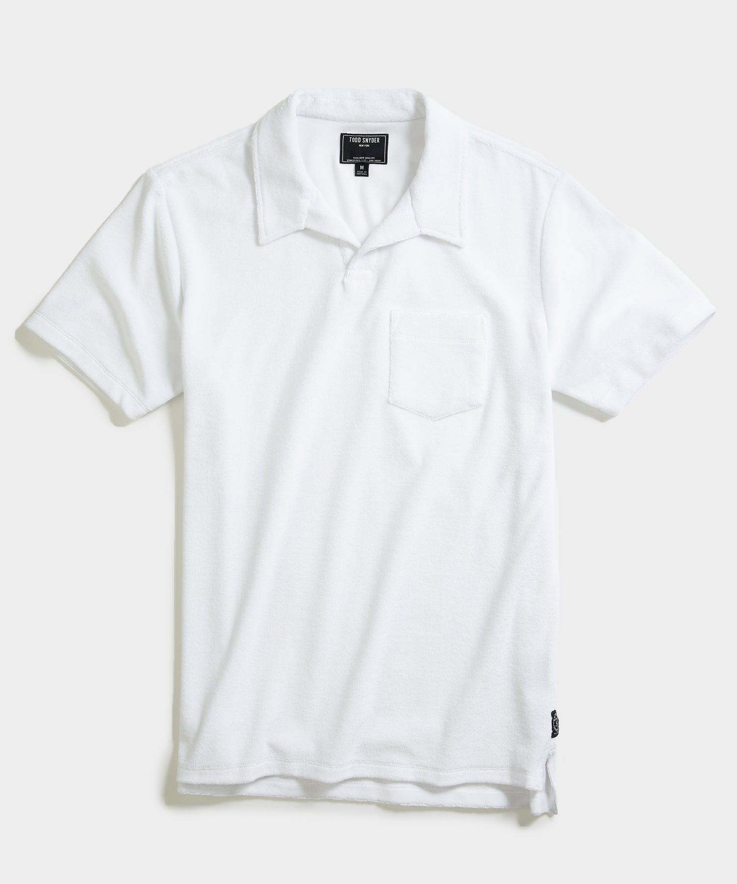 Terry Montauk Polo in White