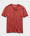 Made in L.A. Short Sleeve Jersey Henley in Brick