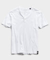 Made in L.A. Short Sleeve Jersey Henley in White