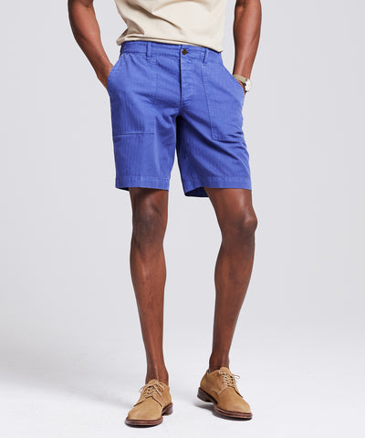 "9.5"" Herringbone Camp Short in French Blue"