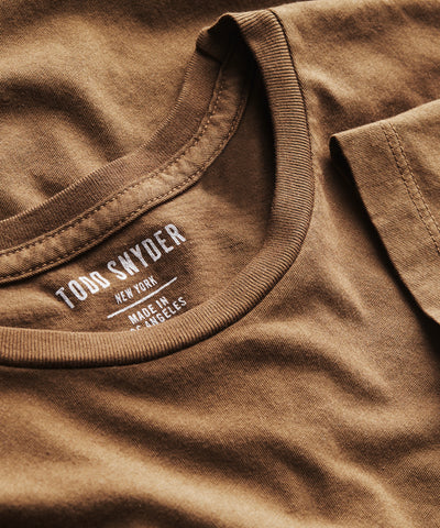 Made In L.A. Classic Jersey T-Shirt in Mossy Brown