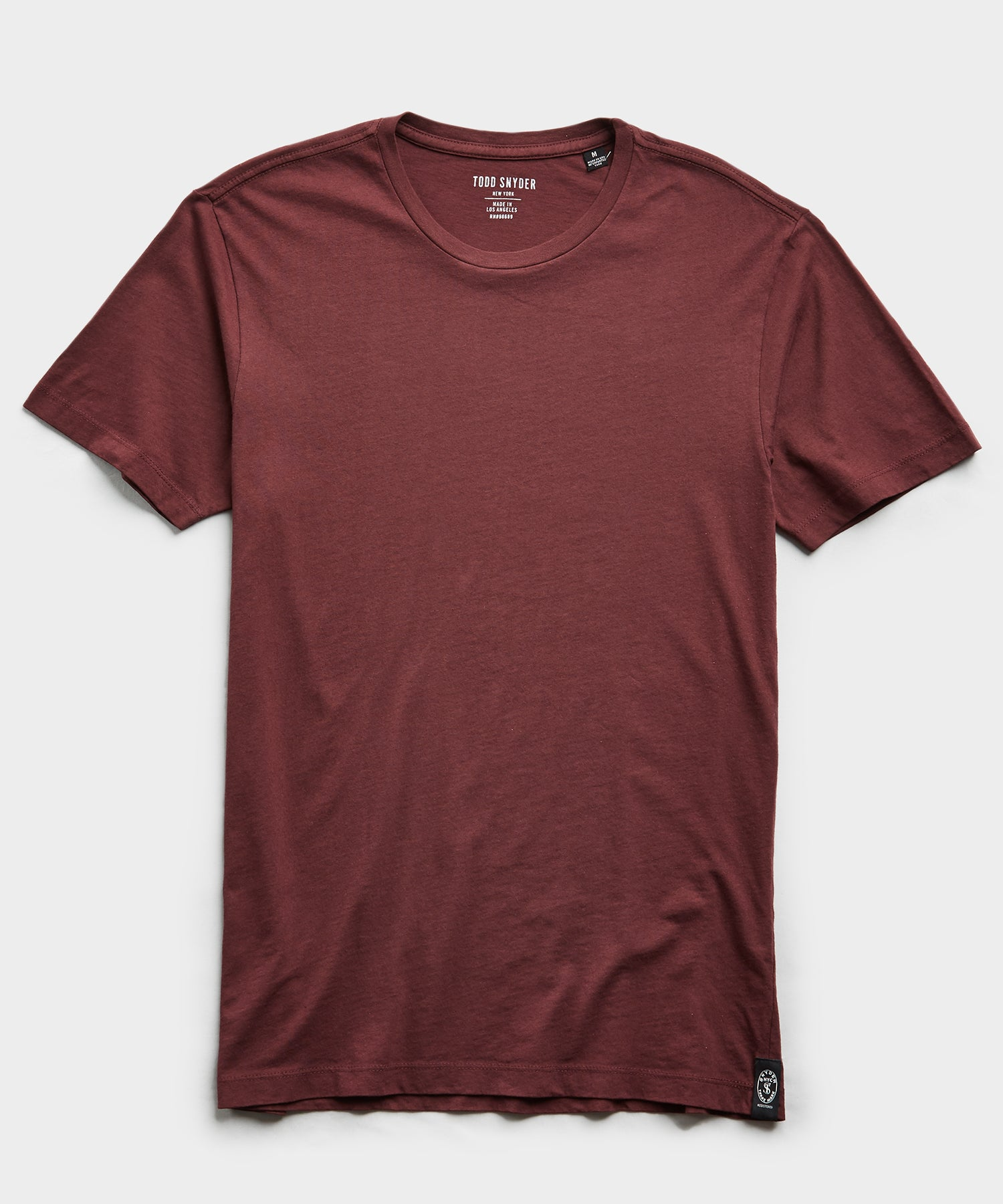 Made in L.A Jersey T-Shirt in Burgundy