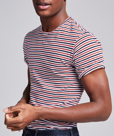 Portuguese Striped Tee in Red White & Blue