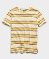 Portuguese Striped Tee in Pale Banana