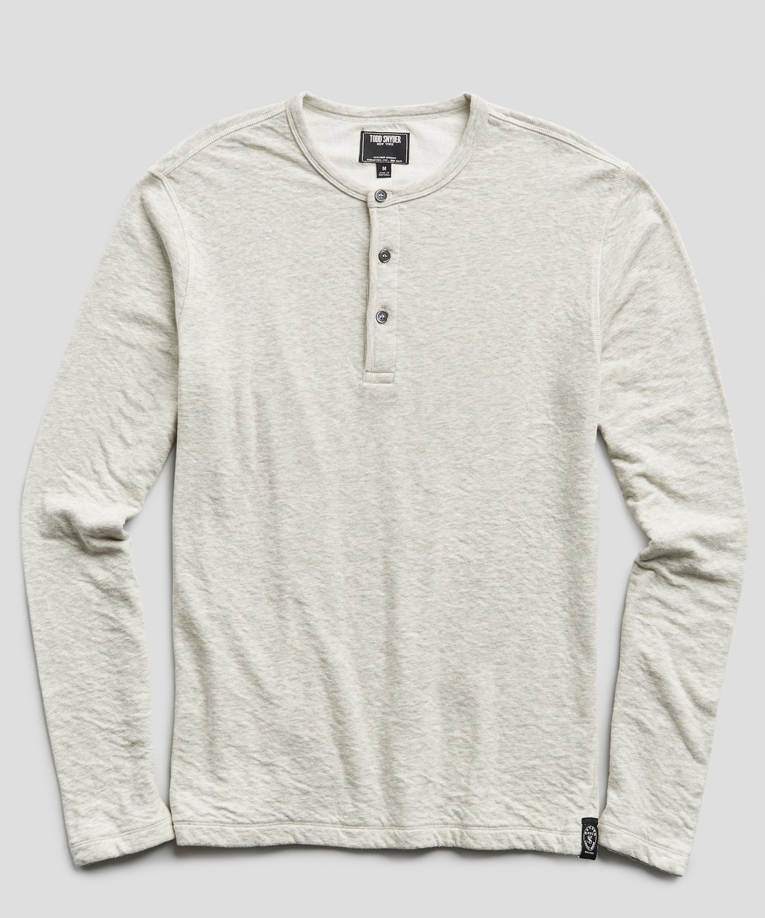 Double knit Henley in Light Grey