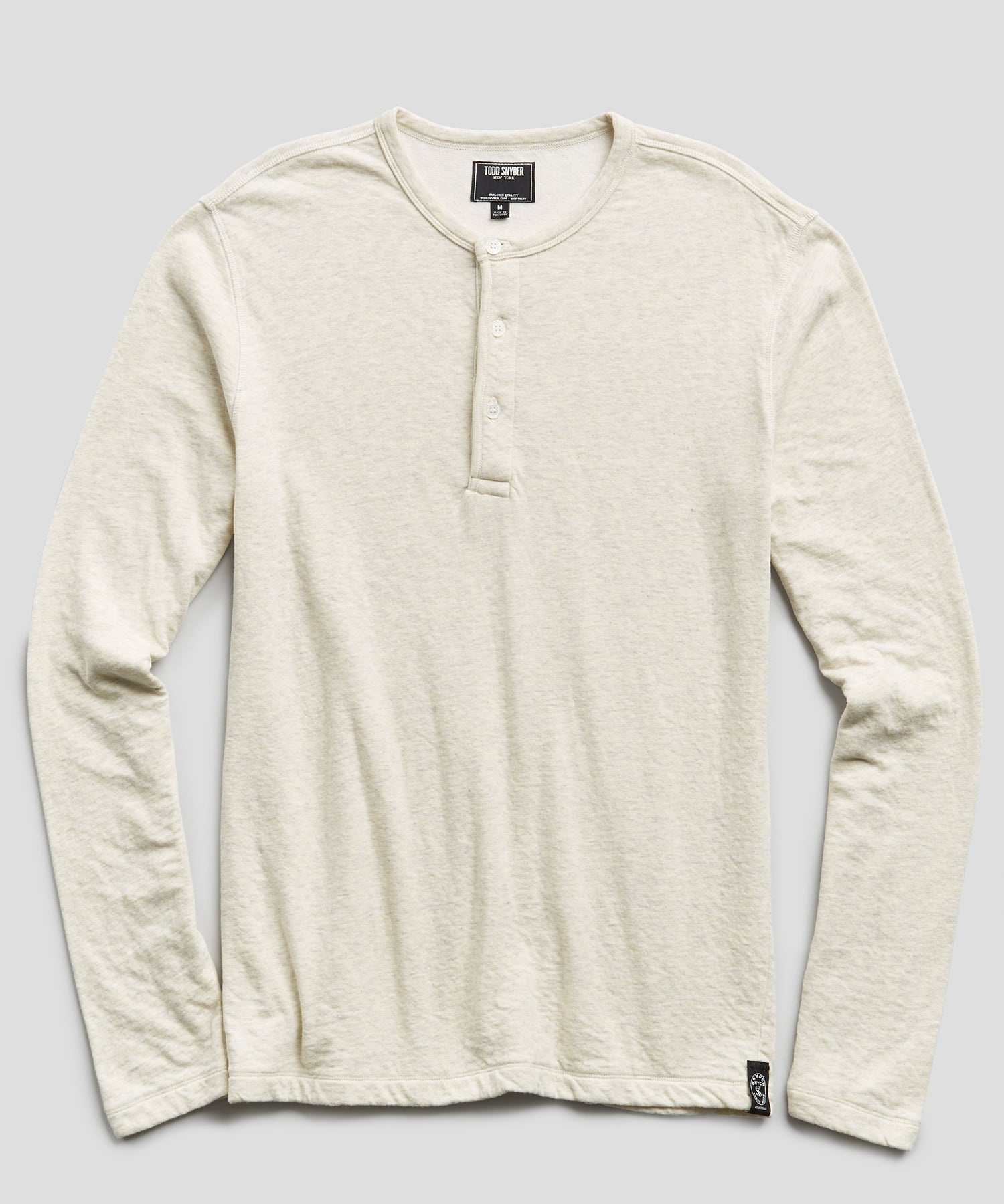 Double knit Henley in Oatmeal