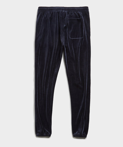 Velour Classic Fit Sweatpant in Navy