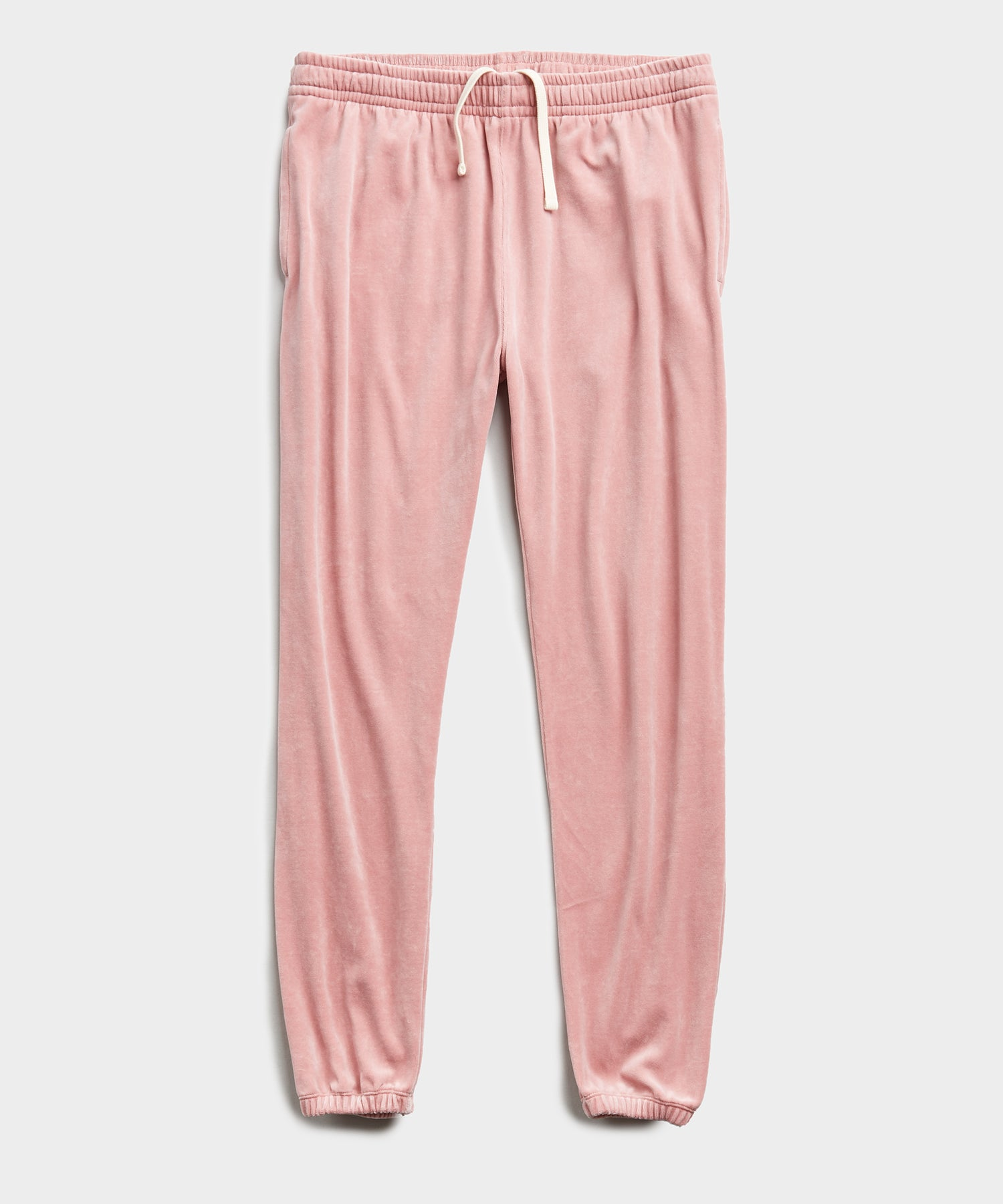 Velour Classic Fit Sweatpant in Pink