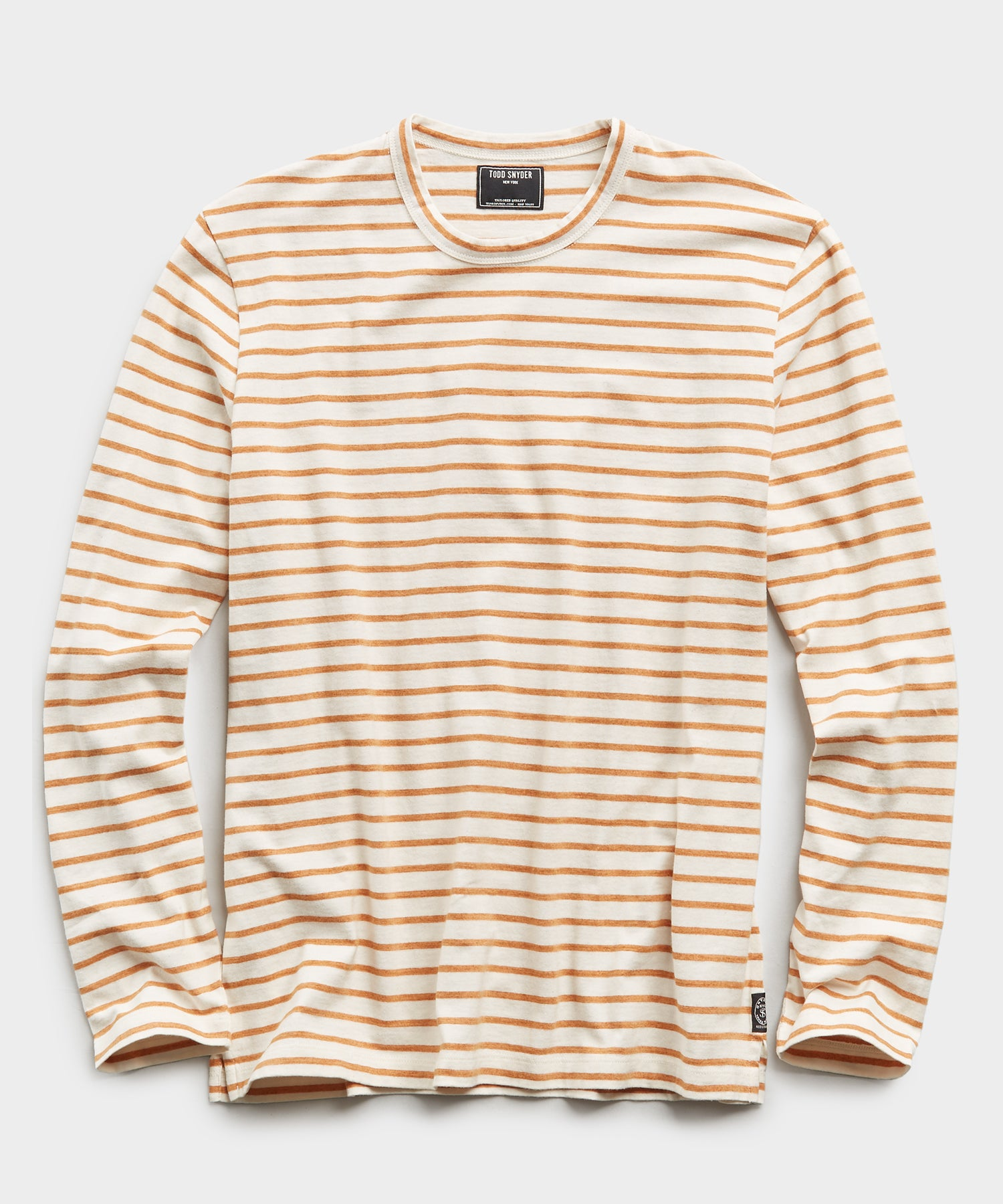 Long Sleeve Japanese Nautical Stripe Tee in Orange
