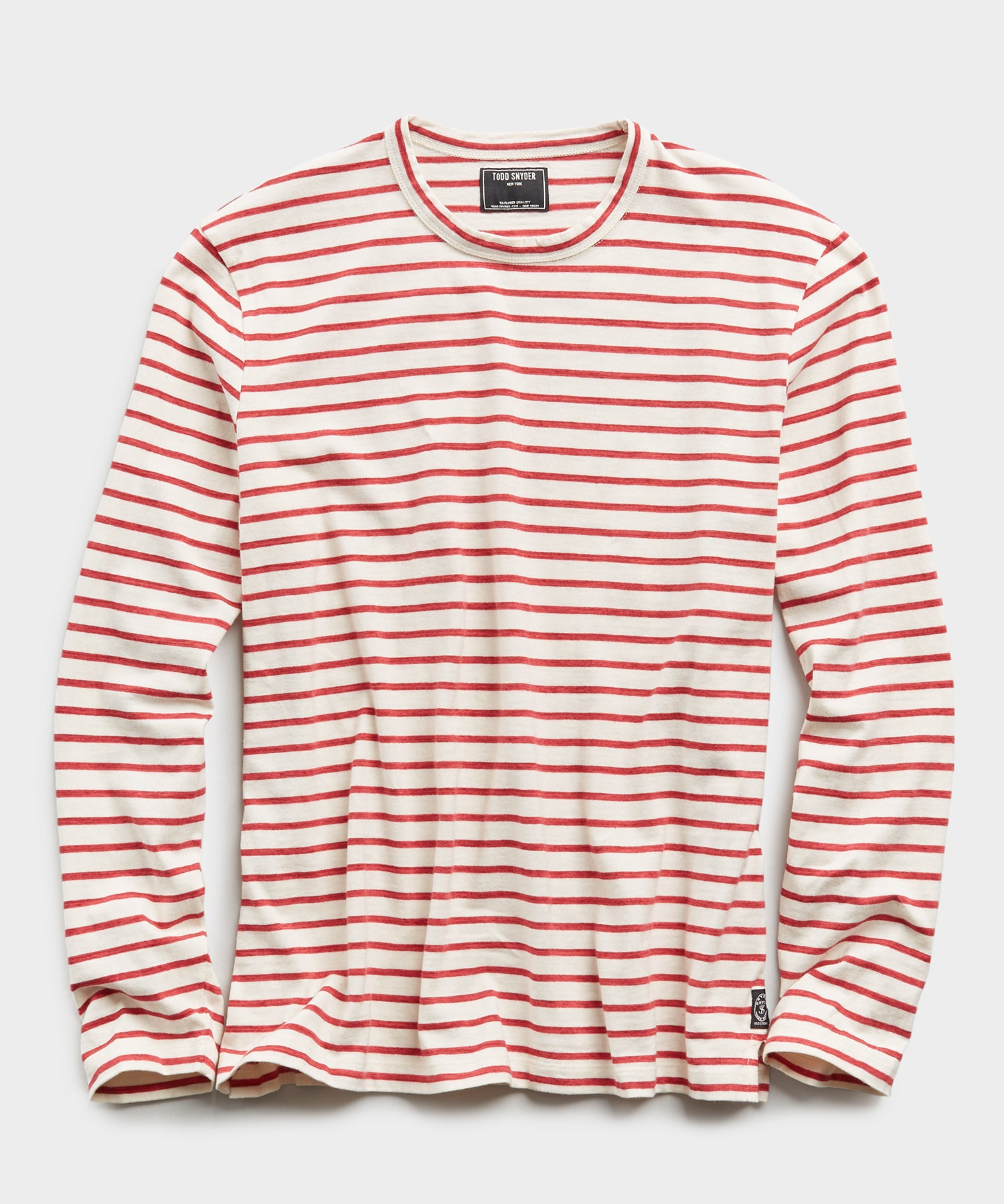Long Sleeve Japanese Nautical Stripe Tee in Red