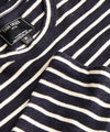 Long Sleeve Japanese Nautical Stripe Tee in Navy