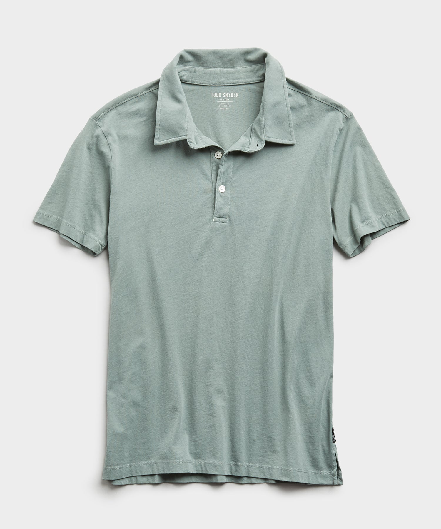 Made In L.A. Short Sleeve Jersey Polo in Pistachio