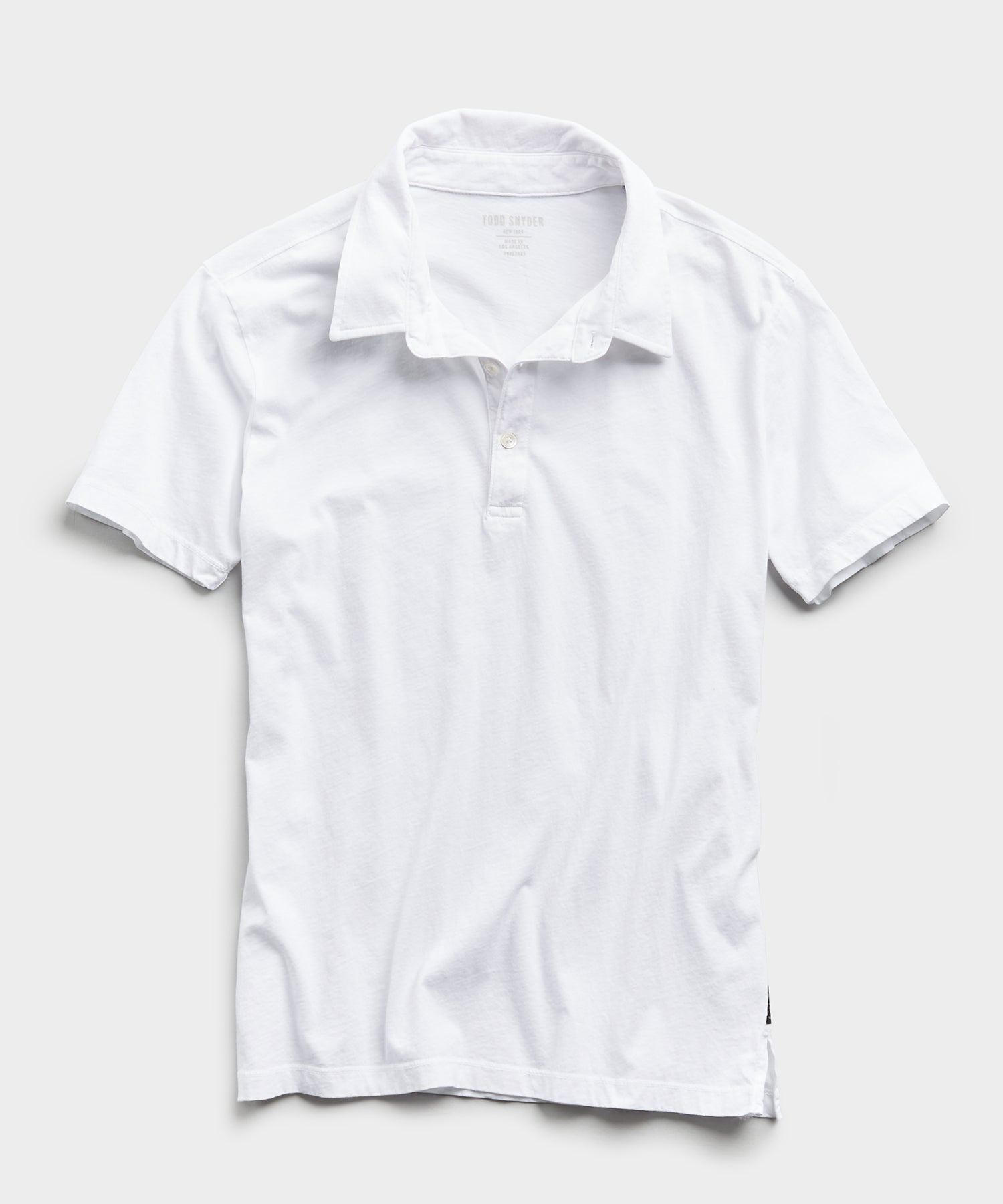 Made in L.A. Short Sleeve Jersey Polo in White