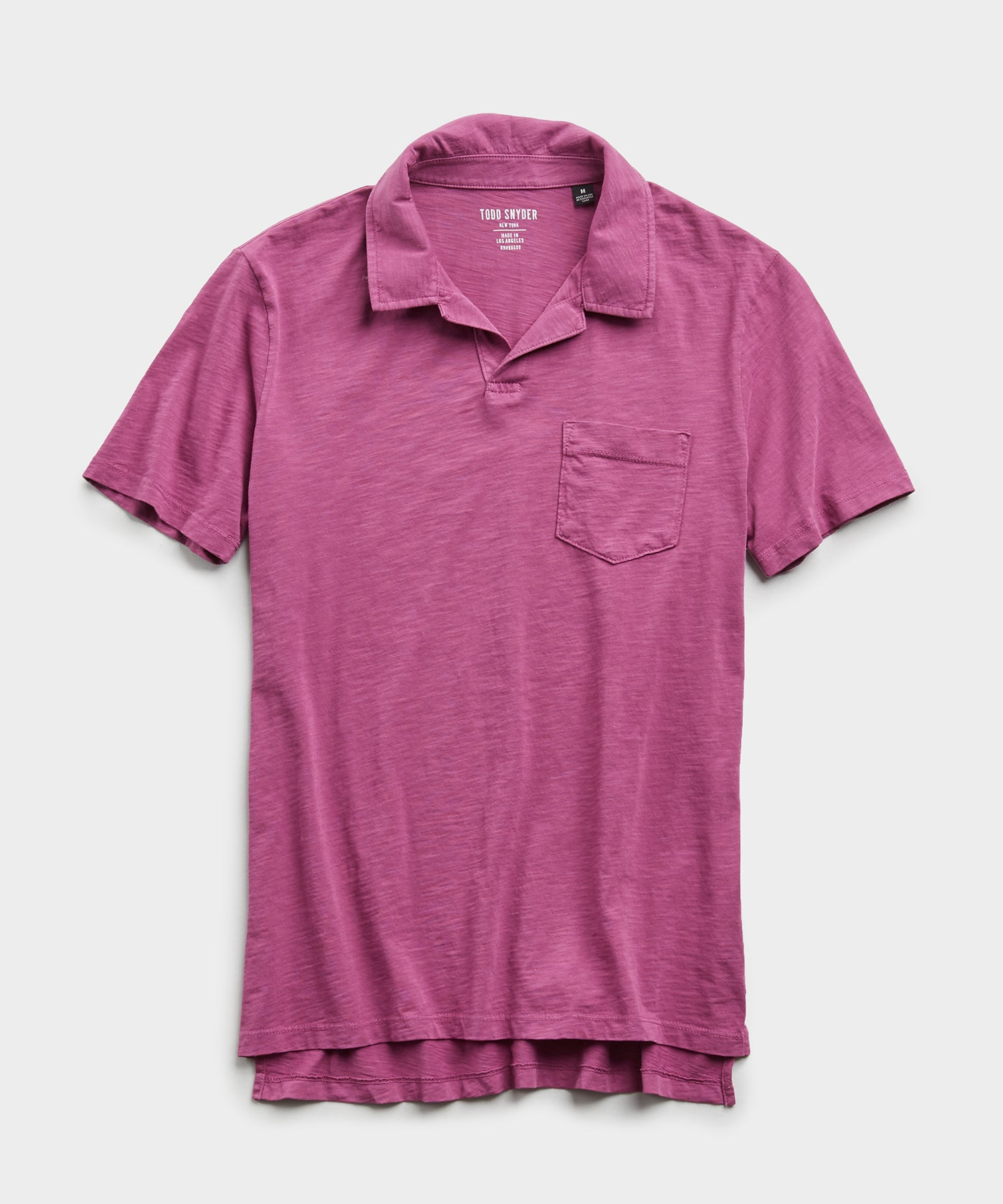Made in L.A. Slub Jersey Montauk Polo in Magenta Mist