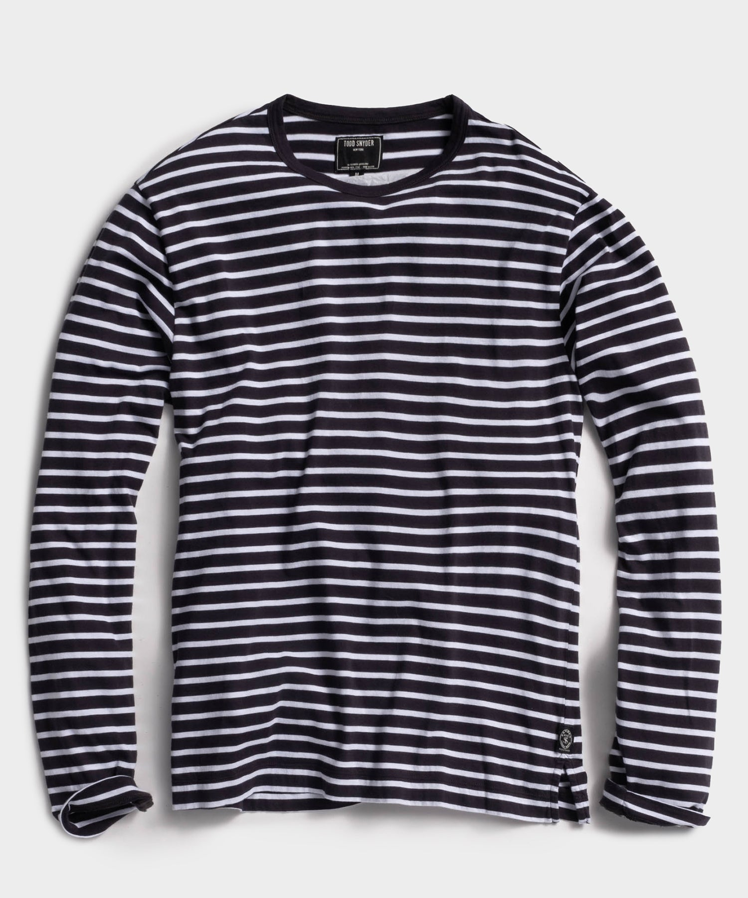 Long Sleeve Grant Stripe Tee in Original Navy