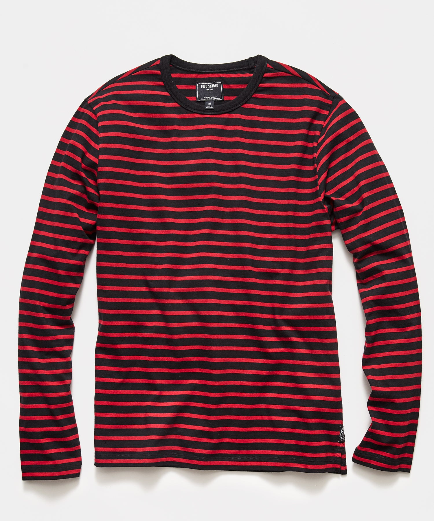 Long Sleeve Grant Stripe Tee in Black