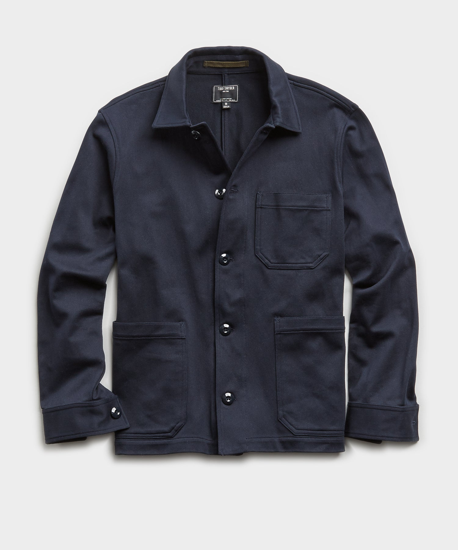 Japanese Knit Chore Coat in Navy