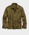 Japanese Knit Chore Coat in Olive