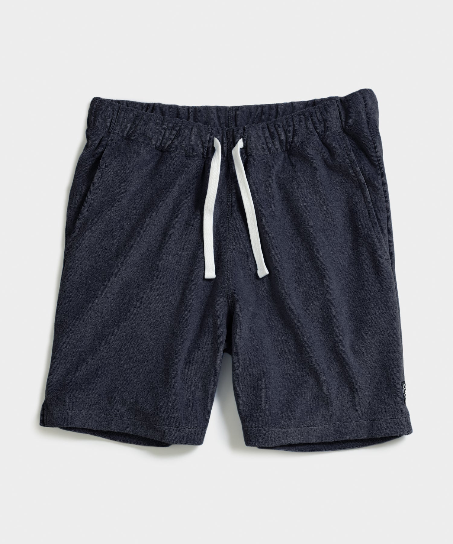 Terry Warm Up Short in Navy