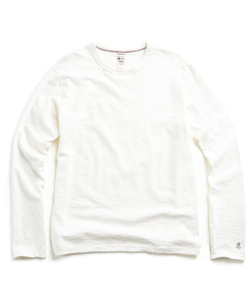 Long Sleeve Crew in Vintage White