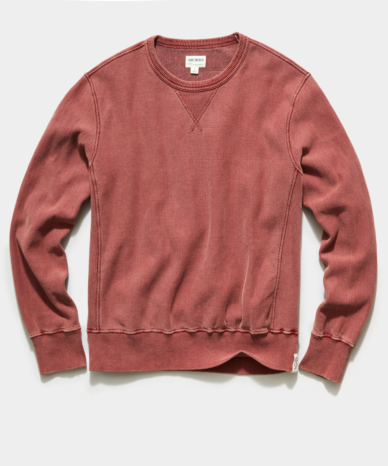 Garment Dyed Crew Sweatshirt in Copper Clay