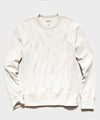 Garment Dyed Crew Sweatshirt in Alabaster