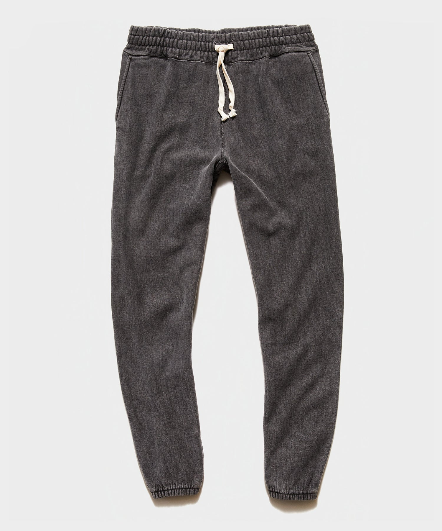 Garment Dyed Classic Sweatpant in Black Sand